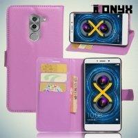 Чехол книжка для Huawei Honor 6x - Фиолетовый