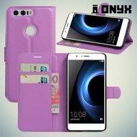 Чехол книжка для Huawei Honor 8 - Фиолетовый