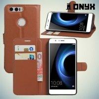 Чехол книжка для Huawei Honor 8 - Коричневый