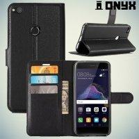 Чехол книжка для Huawei Honor 8 Lite - Черный