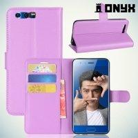 Чехол книжка для Huawei Honor 9 - Фиолетовый