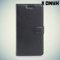 Чехол книжка для Huawei Honor V8 - Черный
