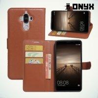 Fasion Case чехол книжка флип кейс для Huawei Mate 9 - Коричневый