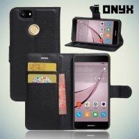 Чехол книжка для Huawei nova - Черный