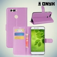 Чехол книжка для Huawei nova 2 Plus - Фиолетовый