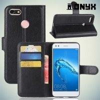 Чехол книжка для Huawei Nova lite 2017 - Черный