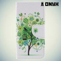 Чехол книжка для Huawei Nova lite 2017 - Дерево счастья
