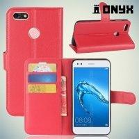 Чехол книжка для Huawei Nova lite 2017 - Красный