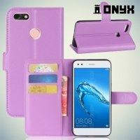 Чехол книжка для Huawei Nova lite 2017 - Фиолетовый