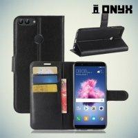 Чехол книжка для Huawei P Smart - Черный