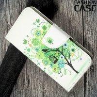 Чехол книжка для Huawei P10 Lite - Дерево счастья
