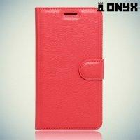Чехол книжка для Huawei P9 lite - Красный