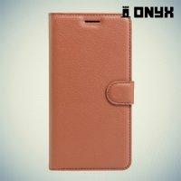 Чехол книжка для Huawei Y5 II / Honor 5A - Коричневый