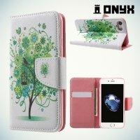 Чехол книжка для iPhone 8 Plus / 7 Plus - с рисунком Дерево счастья
