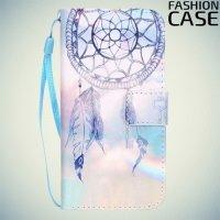 Чехол книжка для iPhone 8/7 - с рисунком Светлый ловец снов