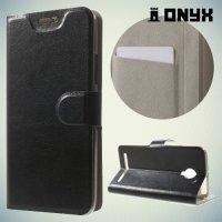Чехол книжка для Lenovo Vibe C2 (K10A40) - Черный