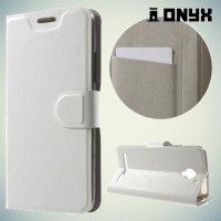 Чехол книжка для Lenovo Vibe C2 (K10A40)  - Белый