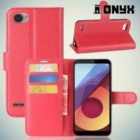 Чехол книжка для LG Q6a M700 - Красный