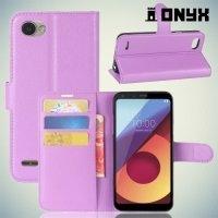 Чехол книжка для LG Q6a M700 - Фиолетовый