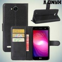 Чехол книжка для LG X Power 2 LGM320 - Черный