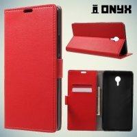Чехол книжка для Meizu M3 Max - Красный