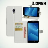 Чехол книжка для Meizu M5 Note - Белый