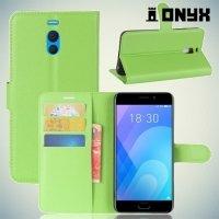 Чехол книжка для Meizu M6 Note - Зеленый