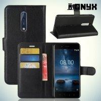 Чехол книжка для Nokia 8 - Черный
