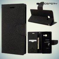 Чехол книжка для Samsung Galaxy A3 2017 SM-A320F Mercury Goospery - Черный
