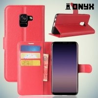Чехол книжка для Samsung Galaxy A5 2018 SM-A530F - Красный