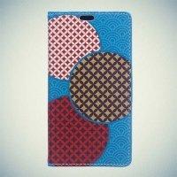 Чехол книжка для Samsung Galaxy A7 2016 SM-A710F - с рисунком Яркие круги