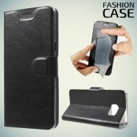 Чехол книжка для Samsung Galaxy Note 7 - Черный