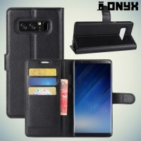 Чехол книжка для Samsung Galaxy Note 8 - Черный