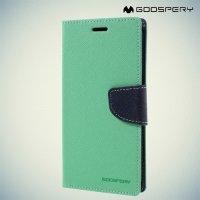 Чехол книжка для Samsung Galaxy S7 Edge Mercury Goospery - Бирюзовый