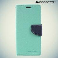 Чехол книжка для Samsung Galaxy S8 Mercury Goospery - Бирюзовый