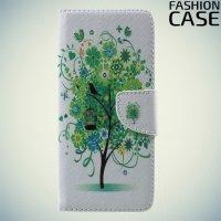 Чехол книжка для Samsung Galaxy S8 Plus - с рисунком Дерево счастья
