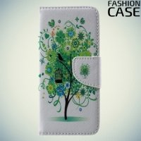 Чехол книжка для Samsung Galaxy S8 - с рисунком Дерево счастья