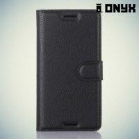 Чехол книжка для Sony Xperia X Performance - Черный