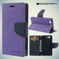 Чехол книжка для Sony Xperia Z3 Compact D5803 Mercury Goospery - Фиолетовый