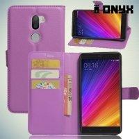 Чехол книжка для Xiaomi Mi 5s Plus - Фиолетовый