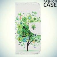 Чехол книжка для Xiaomi Redmi 4X - с рисунком Дерево счастья