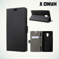 Чехол книжка с магнитной застежкой для Meizu Pro 6 Plus - Черный