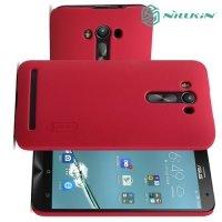 Чехол накладка Nillkin Super Frosted Shield для Asus Zenfone 2 Laser ZE550KL - Красный