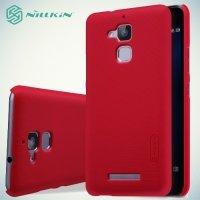 Чехол накладка Nillkin Super Frosted Shield для Asus ZenFone 3 Max ZC520TL - Красный
