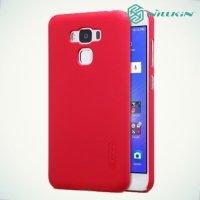 Чехол накладка Nillkin Super Frosted Shield для Asus ZenFone 3 Max ZC553KL  - Красный