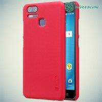 Чехол накладка Nillkin Super Frosted Shield для Asus Zenfone 3 Zoom ZE553KL - Красный