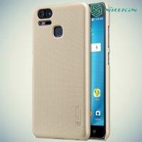 Чехол накладка Nillkin Super Frosted Shield для Asus Zenfone 3 Zoom ZE553KL - Золотой
