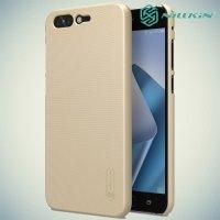 Чехол накладка Nillkin Super Frosted Shield для Asus Zenfone 4 Pro ZS551KL - Золотой