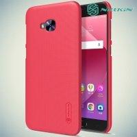 Чехол накладка Nillkin Super Frosted Shield для Asus Zenfone 4 Selfie Pro ZD552KL - Коралловый