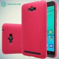 Чехол накладка Nillkin Super Frosted Shield для ASUS ZenFone Max ZC550KL - Красный
